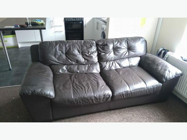 3 and 2 Leather DFS settees