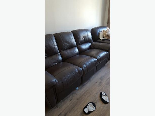3 piece reclining settee