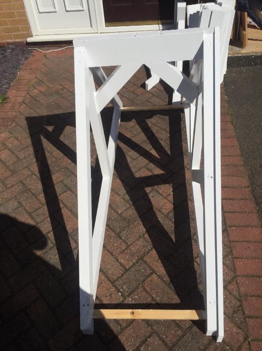 Apex door canopy white painted quality stourbridge - Best price sandtex exterior paint ...