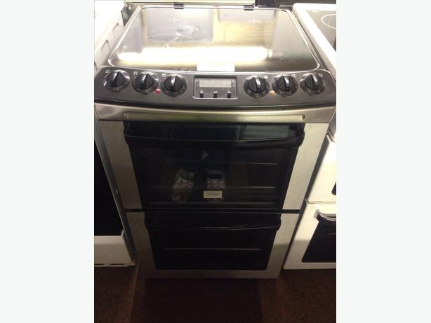 BLACK ZANUSSI ELECTRIC COOKER DOUBLE OVEN008
