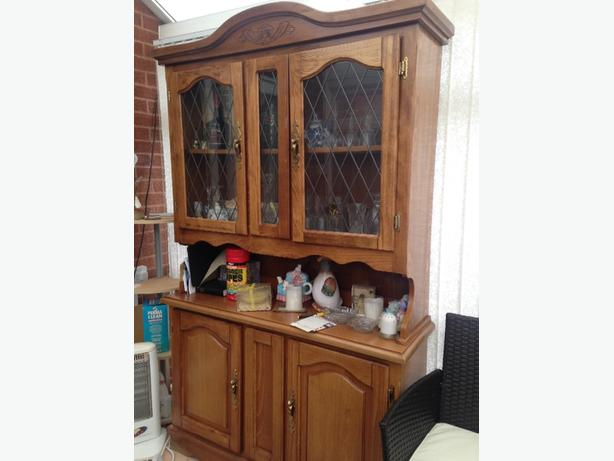 Large Solid Wood Wall Cabinet