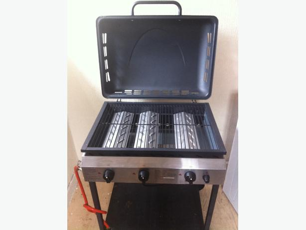 three burner gas bbq