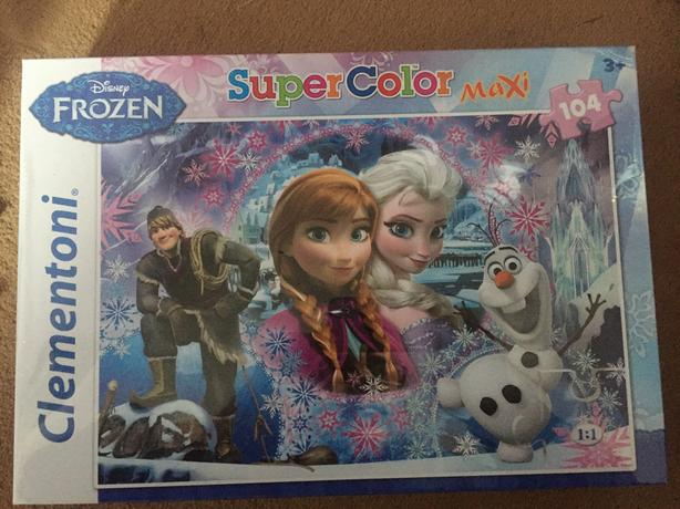 Disney Frozen Super Color Maxi 104 piece jigsaw