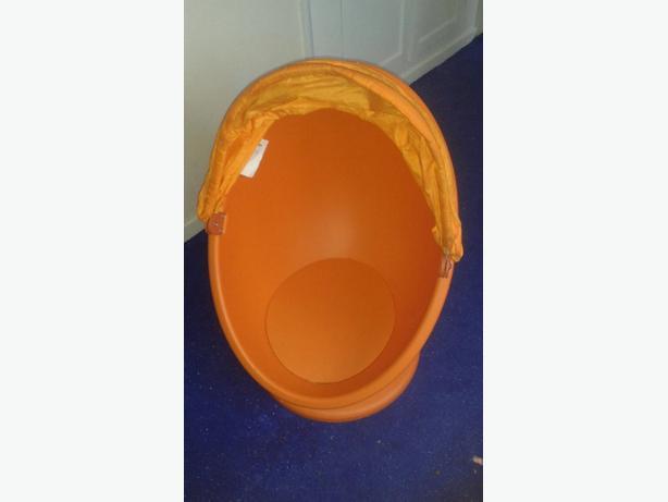 swivel orange chair for kids room