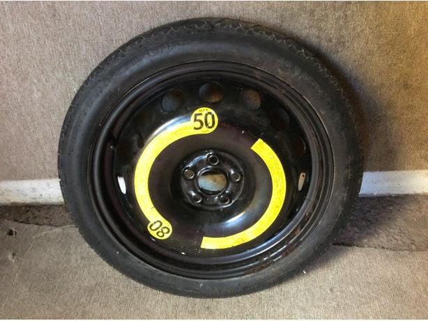 AUDI TT MK1 18 SPACE SAVER SPARE WHEEL & TYRE 12570R18