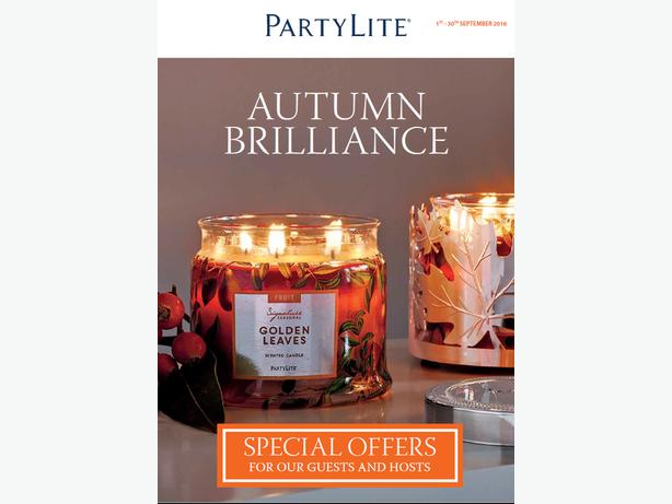 PARTYLITE SEPTEMBER AUTUMN OFFERS