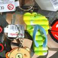 10 party bag items (9 keyrings/1 minion eraser)