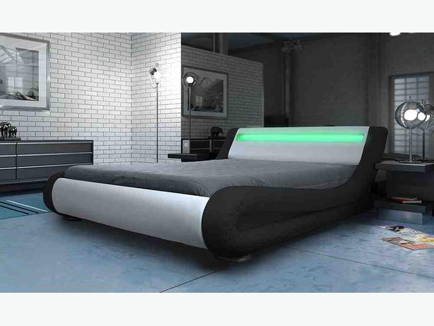 L e d lights designer beds