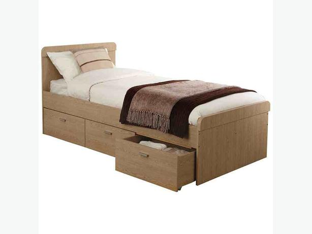 Brand new single bed  Walnut