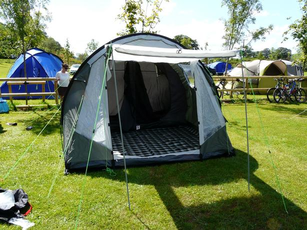 trailer and tent etc
