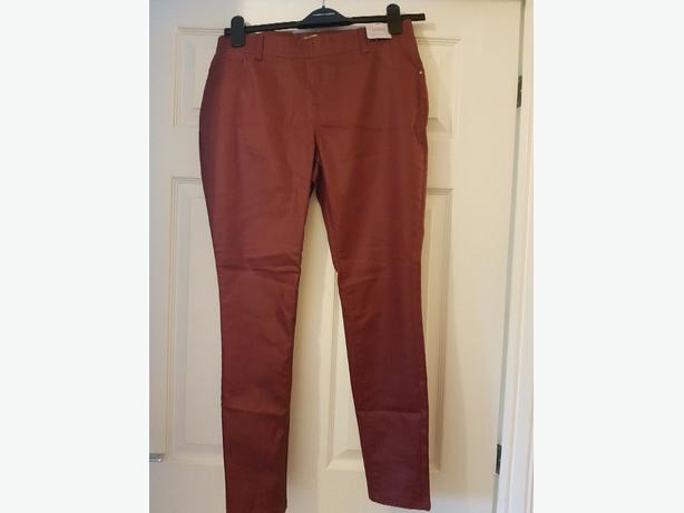 ladies waxed denim jeggings size 14 petite