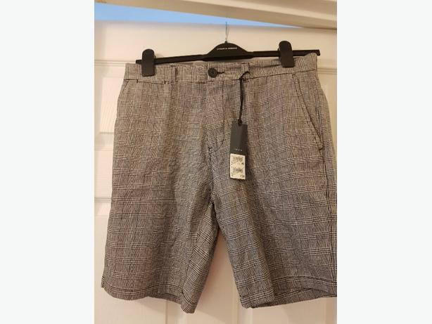 men's Next checked shorts size 32