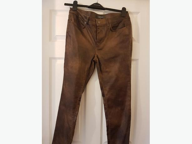 ladies waxed jeans size 12