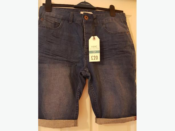 Men's Next denim shorts size 32