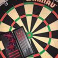 winmau blade 4 dart board and darts. hardly been used