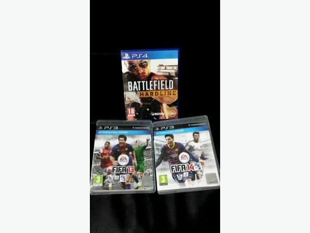 Battlefield hardline ps4, Fifa 14 ps3, Fifa 13 ps3.