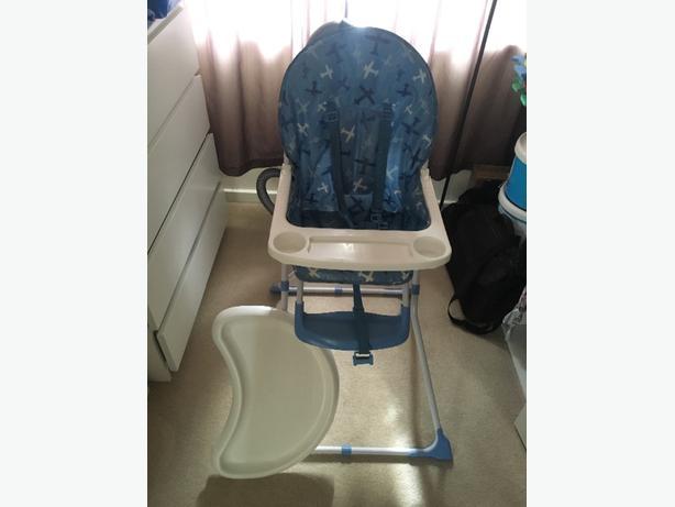 Blue Airplane Highchair