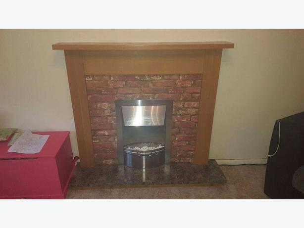 electric fire and surround and hearth