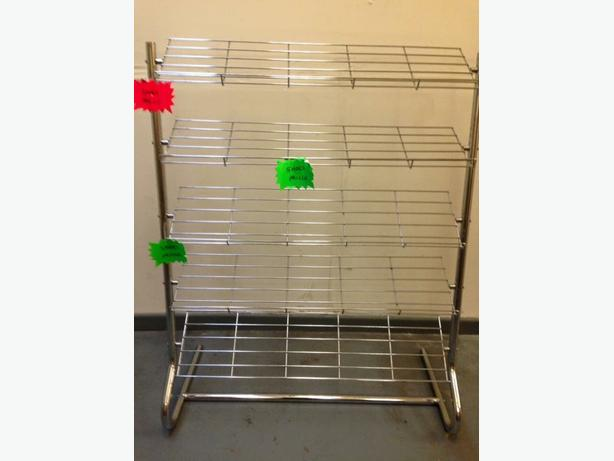 chrome shoe display rail (SHOP TYPE)