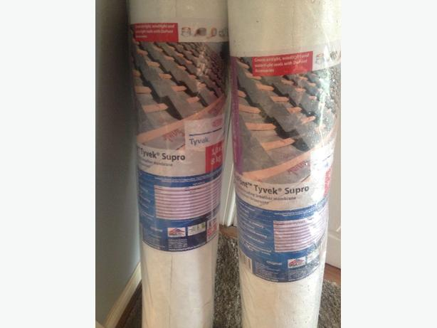 2 rolls of tyvek breathable roof felt