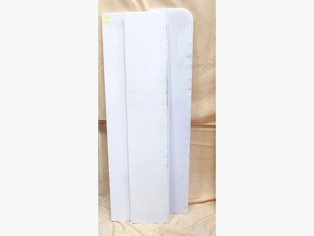 3x 1.5m Primed MDF Window Board Rounded Corners
