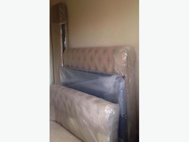 BRAND NEW Chesterfield Fabric Upholstered Double Frame Bed - Only £800