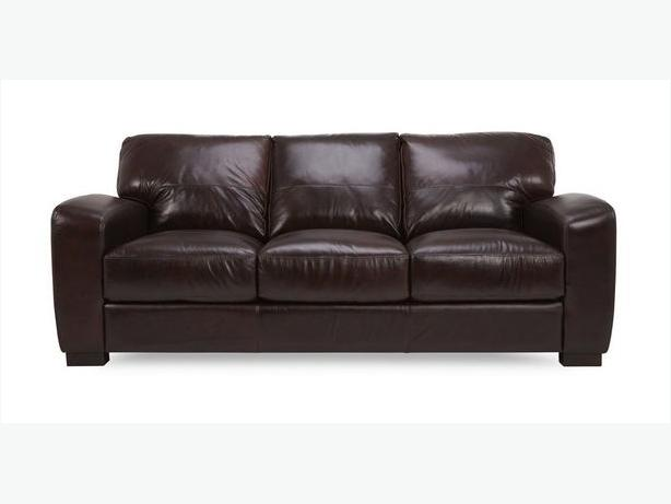 3 SEATER SOFA MILAN in BAROLO DFS £1198 NEW ex display 100% leather sofa
