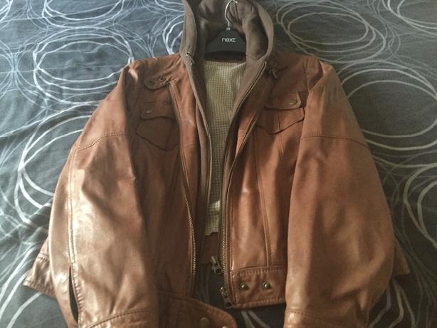 next leather coat