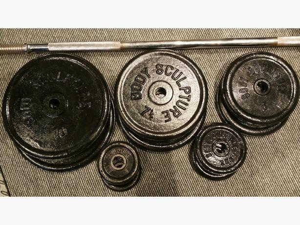 Body Sculpture Weights And Bar 51Kg