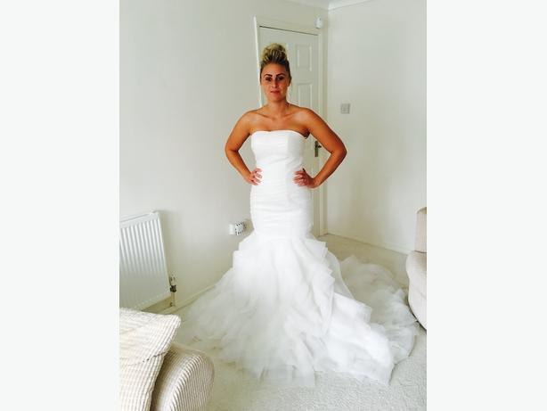 Mermaid bridal dress size 10