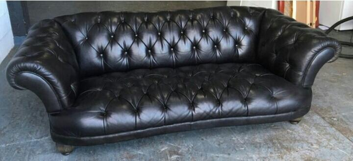 2200 Dfs Oskar Large Stunning Chesterfield Black Sofa We Deliver Smethwick Dudley