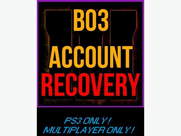 BO3 RECOVERY / MODDING SERVICE *PS3 ONLY*