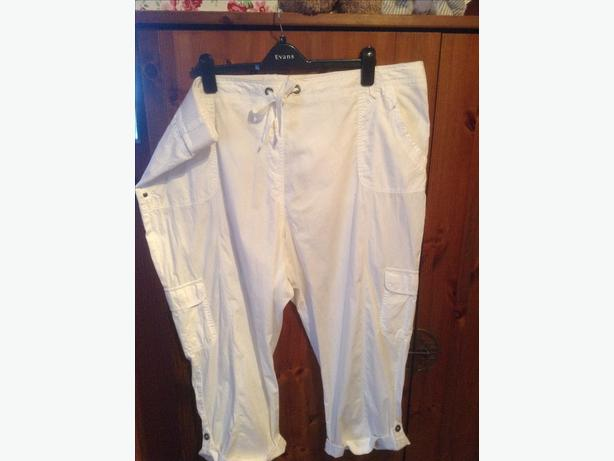 Modern 3/4 white trousers size 26 worn twice