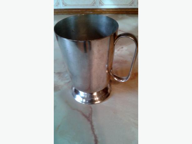 silver plated tankard