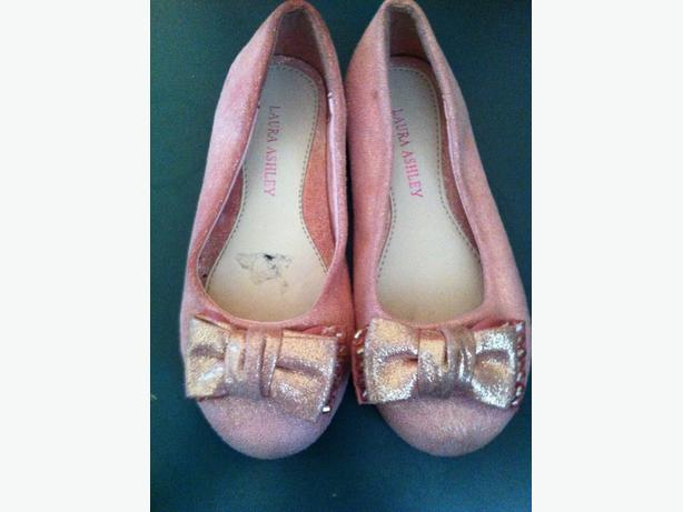 Laura Ashley girls pink shoes
