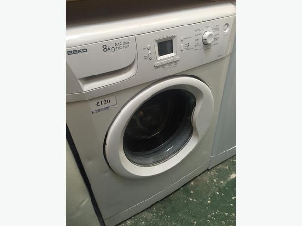 🎈☀️beko 8kg washer free delivery and pipes