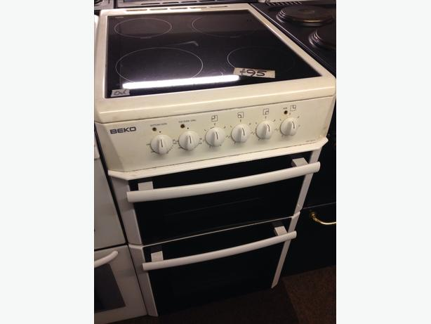 50CM BEKO DOUBLE OVEN ELECTRIC COOKER01