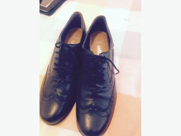 CLARKS boys black shoes size 36