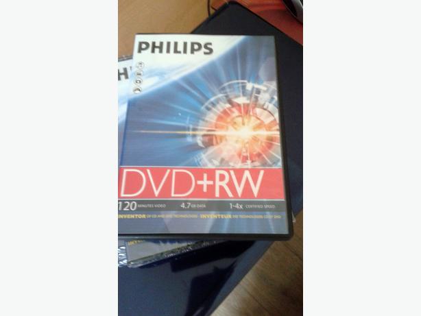 6 philips dvd+rw blank