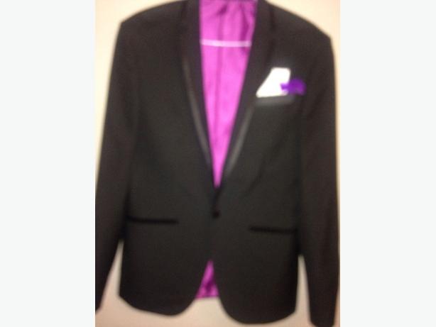 M&S Men's Prom black suit 38/M CHEST 97cm 38inc