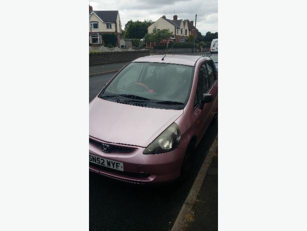 Pink Honda Jazz