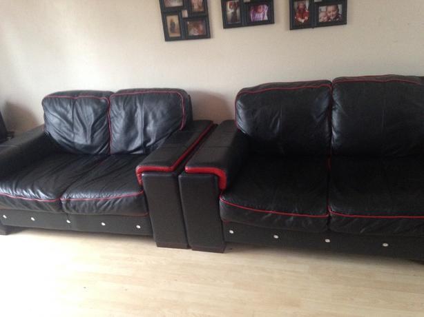 custom made REAL leather sofa