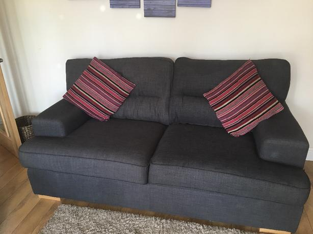 Grey dfs sofa set.