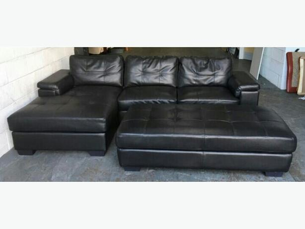 1800 Dfs Large Black Leather Corner Sofa We Deliver Smethwick Wolverhampton