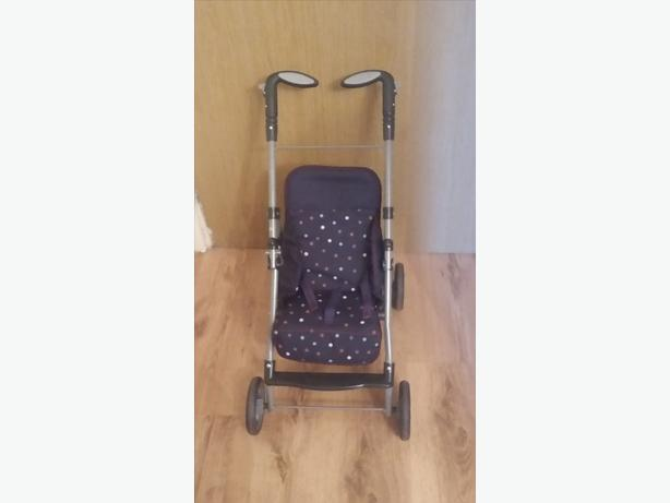 Dolls Sliver Cross Pushchair With Carseat