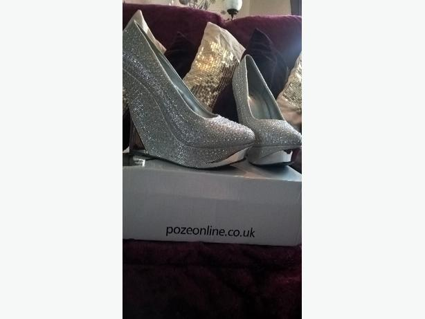 blingy high wedge shoes