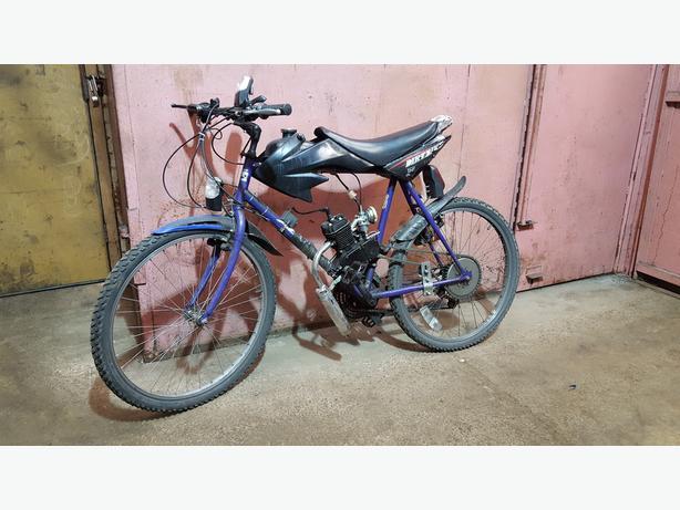 Push bike with a engine