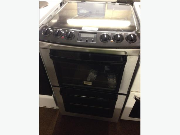 60CM ZANUSSI DOUBLE OVEN ELECTRIC COOKER101