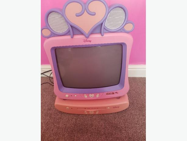 Disney Princess TV with dvd player