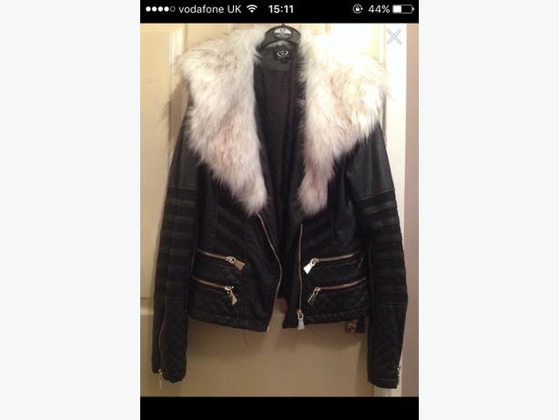 Brand new! Leather fur coat